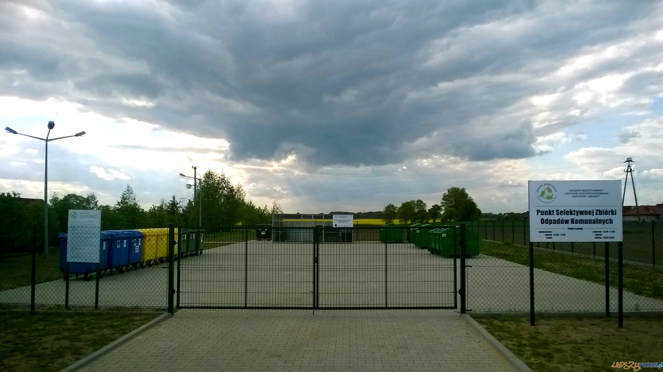 """PSZOK Granowo  Foto: Związek Międzygminny Centrum Zagospodarowania Odpadów """"Selekt"""""""