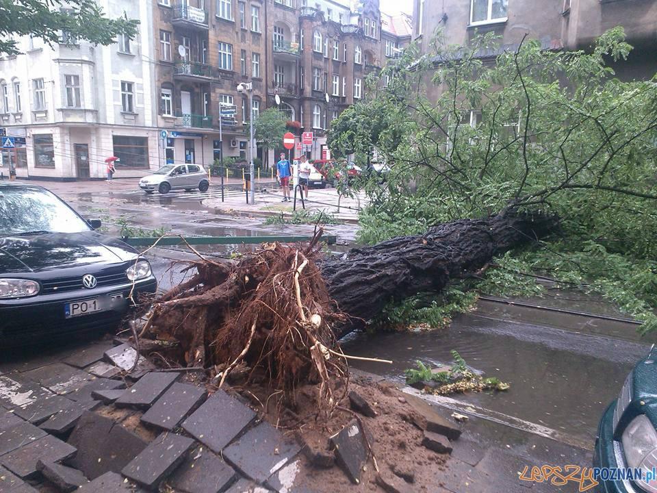 Gwałtowna burza przeszła nad Poznaniem  Foto: Szymon