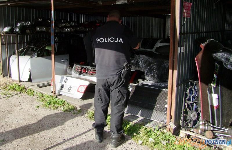 Handlował kradzionymi częściami samochodowymi  Foto: KW POLICJI W POZNANIU