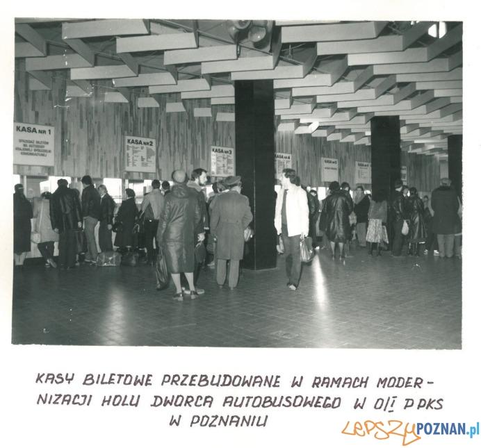 Dworzec PKS - hala pasażerska (1982)  Foto: materiały archiwalne PKS