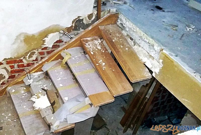 Dom jeszcze w budowie, a już w ruinie  Foto: KWP w Poznaniu