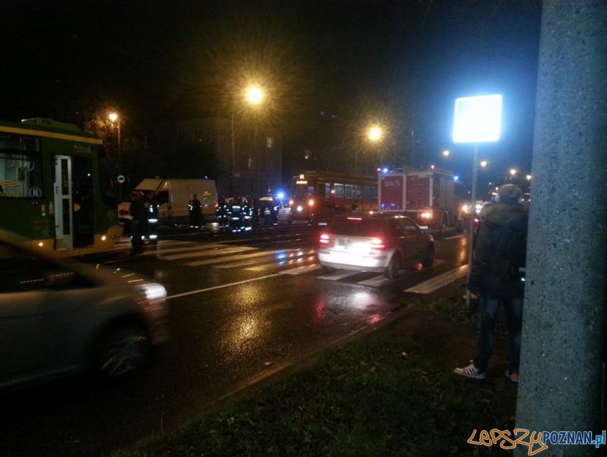 Wypadek na Grunwaldzkiej  Foto: twitter / Paweł Klama