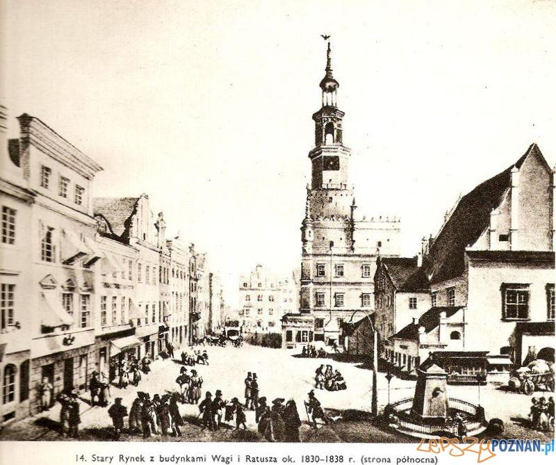 Stary Rynek 1830  Foto: Magdalena Warkoczewska, Widoki Poznania