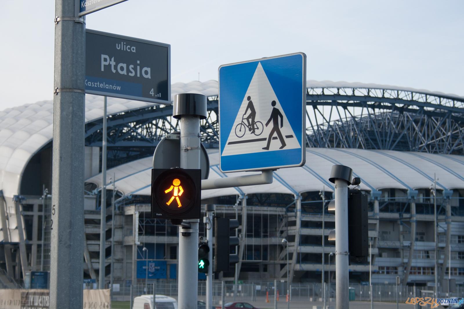 Przejście dla pieszych przy Inea Stadionie  Foto: © lepszyPOZNAN.pl / Karolina Kiraga