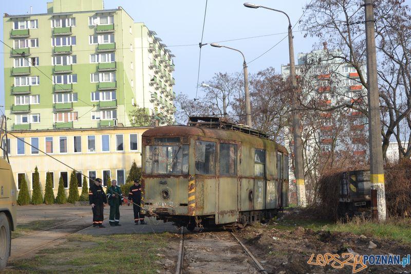 Historyczny wagon w zajezdni na Głogowskiej  Foto: Maciej Witkowski / KMPS