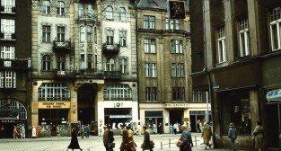 Św. Marcin i Gwarna - lata 60.te - na wprost Hotel Zacisze  Foto: arch