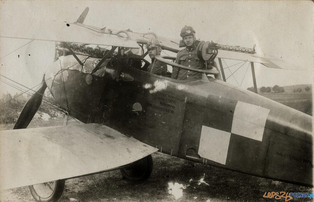 Polscy piloci na Ławicy  Foto: Biblioteka Uniwersytecka