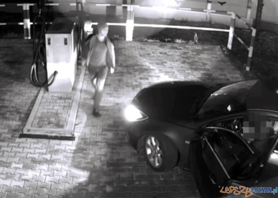 Pobił i ukradł samochód  Foto: nagranie z monitoringu