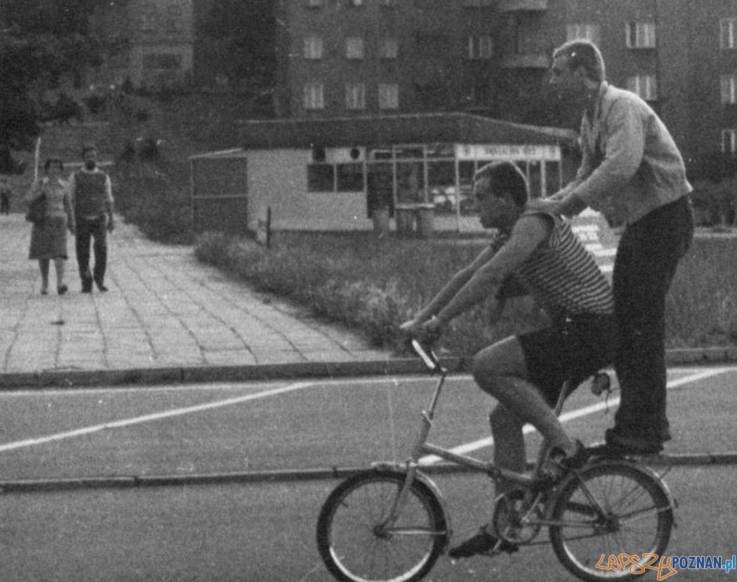 Rowerzysci na Wildzie - lata 70.te XX wieku  Foto: CK Zamek / Cyryl