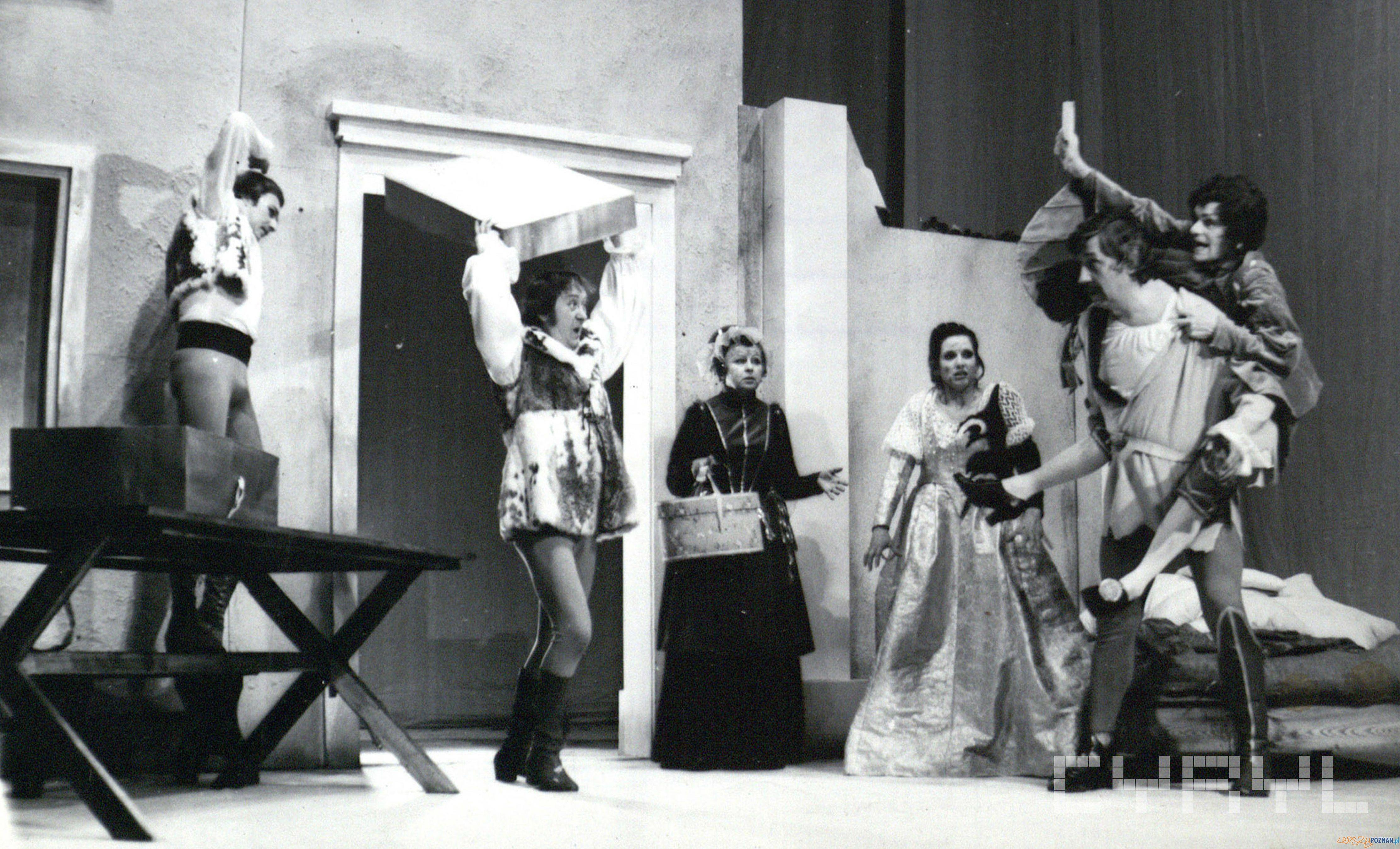 Poskromienie Złośnicy w Teatrze Polskim - premiera 16.04.1977  Foto: Grażyna Wyszomirska / Cyryl