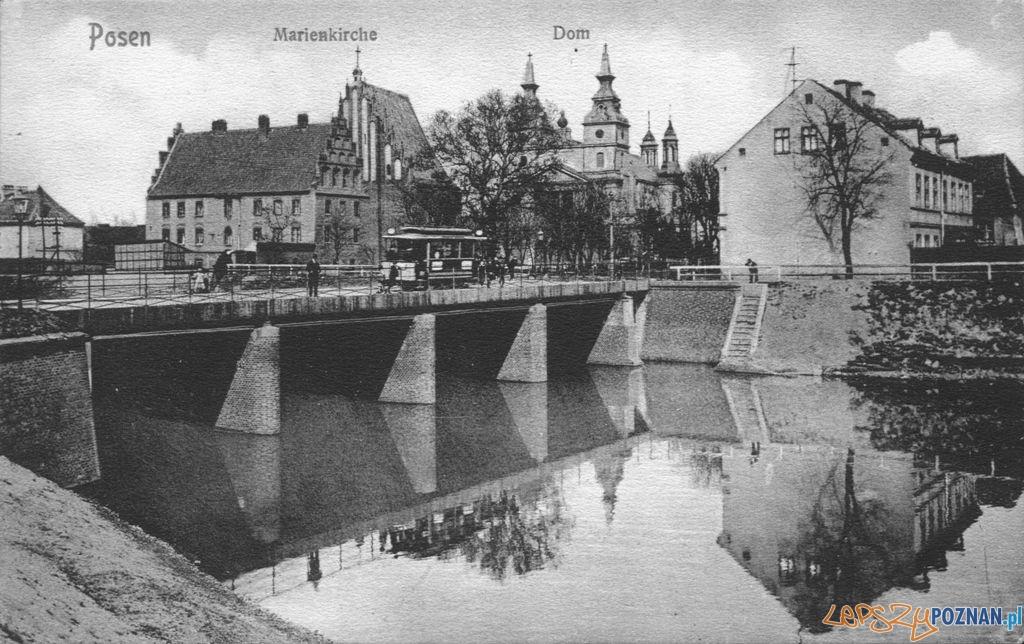 Katedra i most Tumski, początek XX wieku  Foto: fotopolska