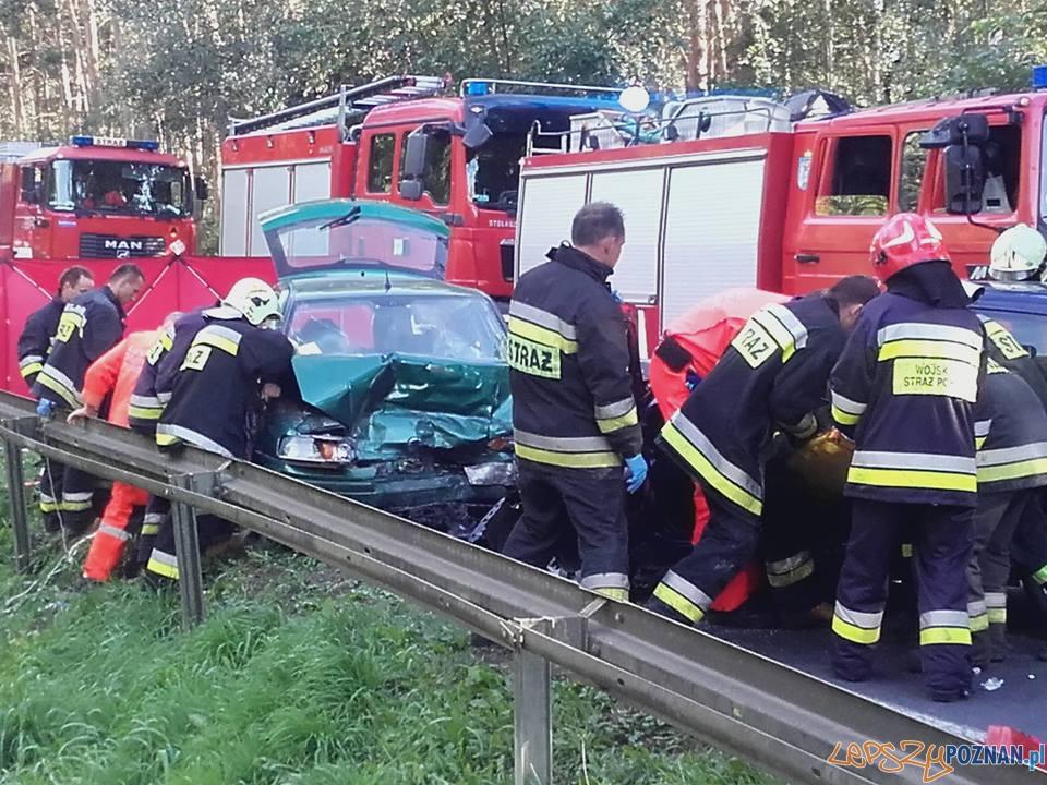 Głuszyna - śmiertelny wypadek  Foto: pomoc Drogowa EuroHol