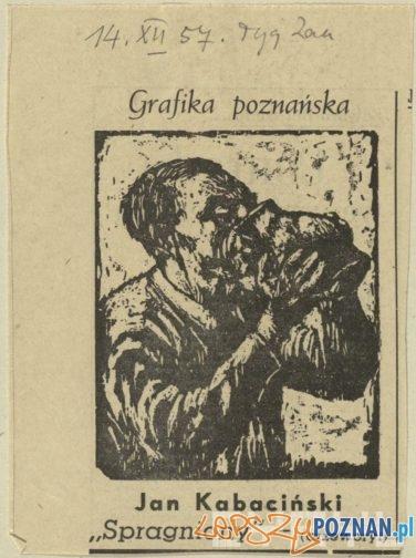 Jan Kabaciński - Spragniony  Foto: Wycinek prasowy z Tygodnika Zachodniego 14.12.1957 / Cyryl