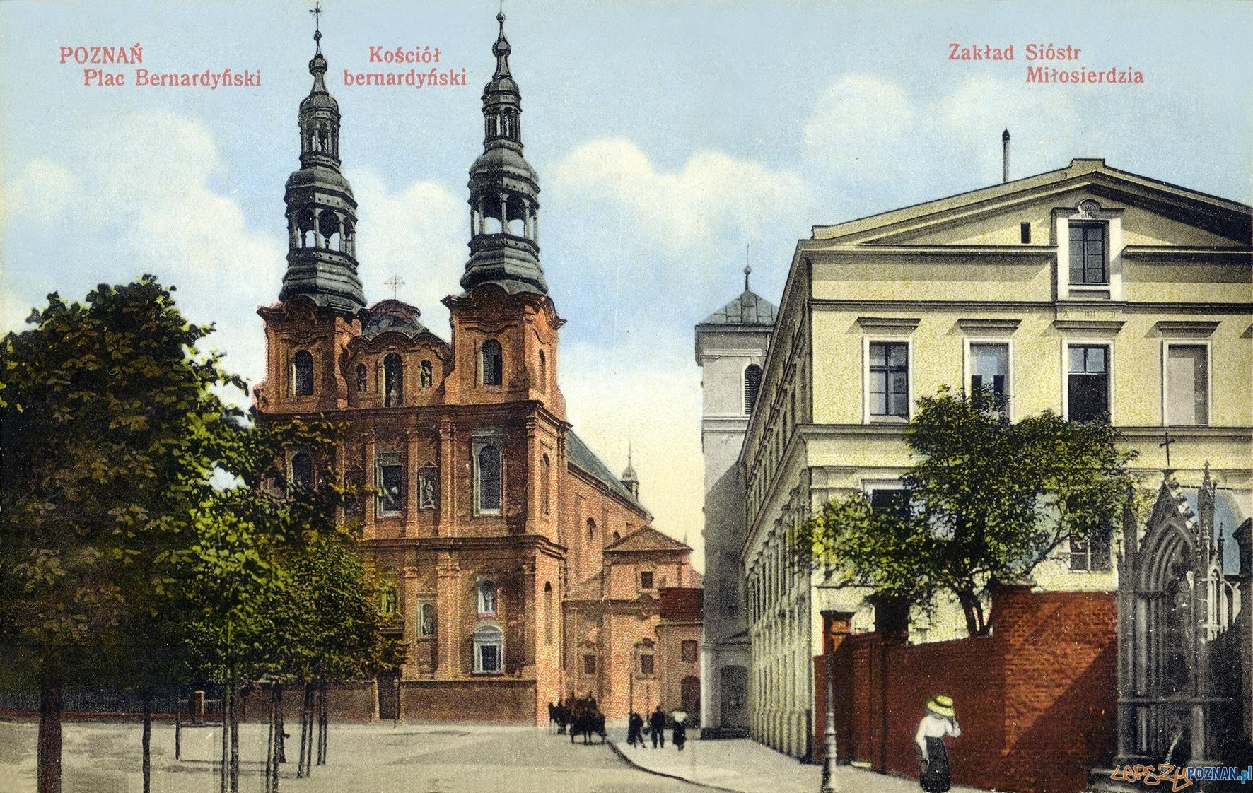 Plac Bernardyński - ulica Długa, poczatek XX wieku  Foto: fotopolska