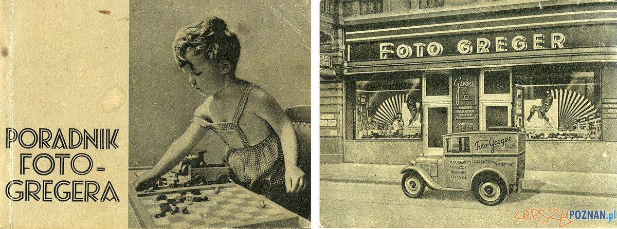 Pierwsza i ostatnia strona katalogu Foto Greger -  1938 r.  Foto: Piotr Gawron / optyczne.pl