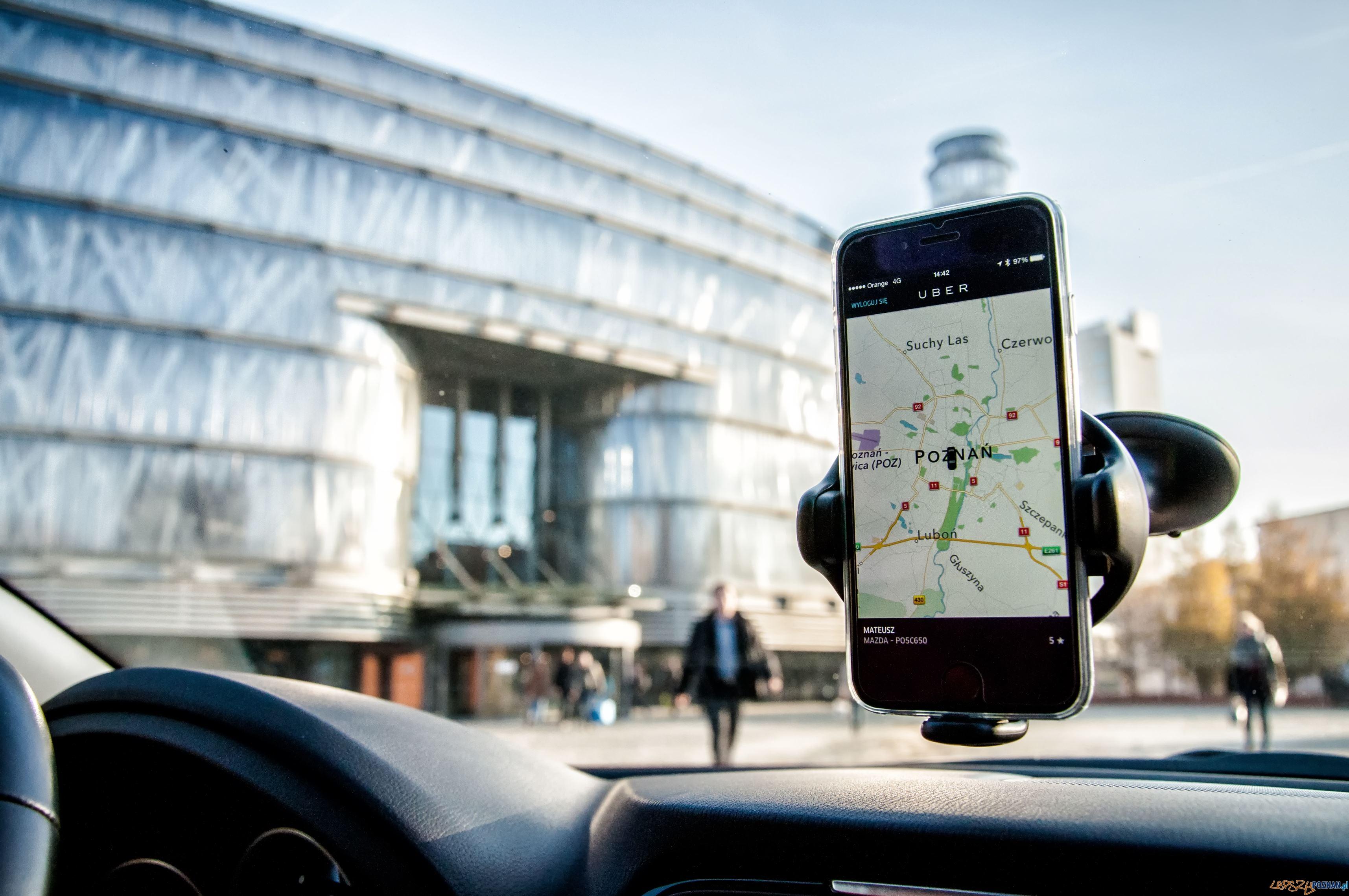 Uber w Poznaniu  Foto: Uber