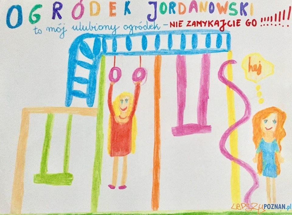 Obrazki w obronie Ogrodu Jordanowskiego  Foto: