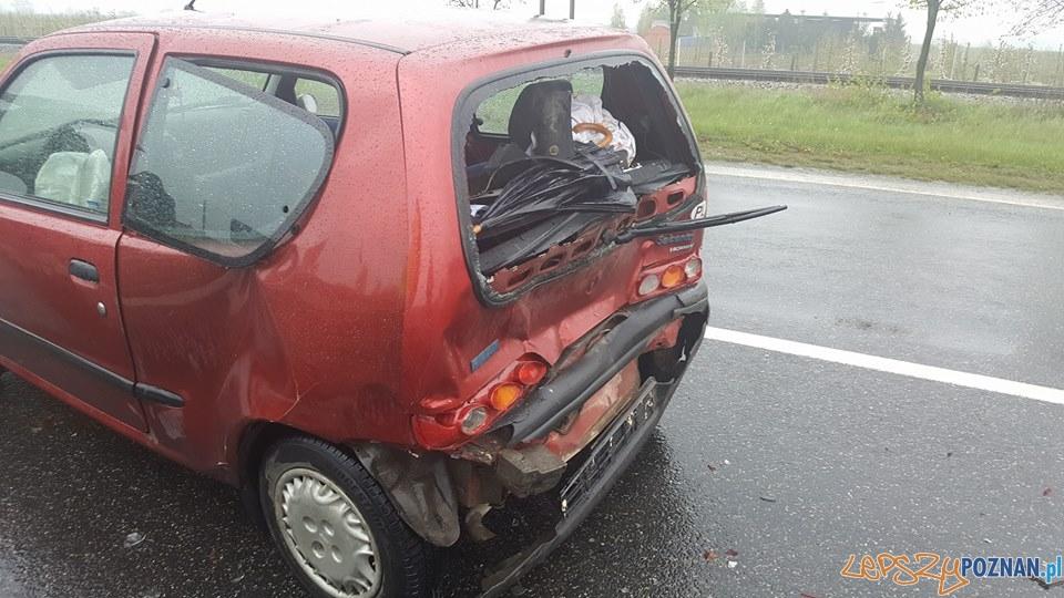 Wypadek w Paczkowie  Foto: Pomoc Drogowa Euro-Hol