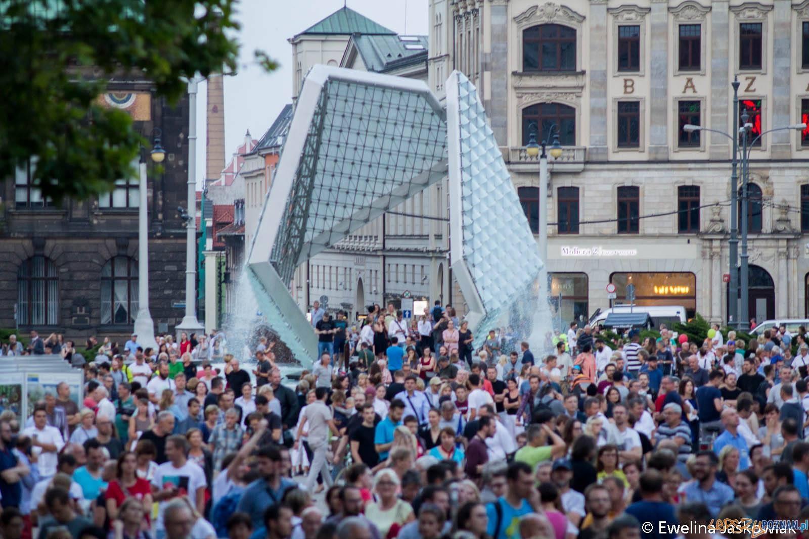 Łańcuch Światła - Poznań Plac Wolności 20.07.2017 r.  Foto: Ewelina Jaskowiak