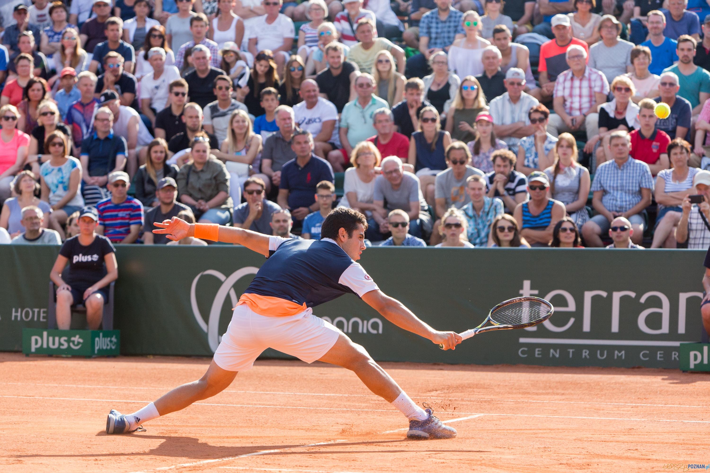 Jaume Munar (ESP) vs Jerzy Janowicz (POL)  Foto: lepszyPOZNAN.pl/Piotr Rychter