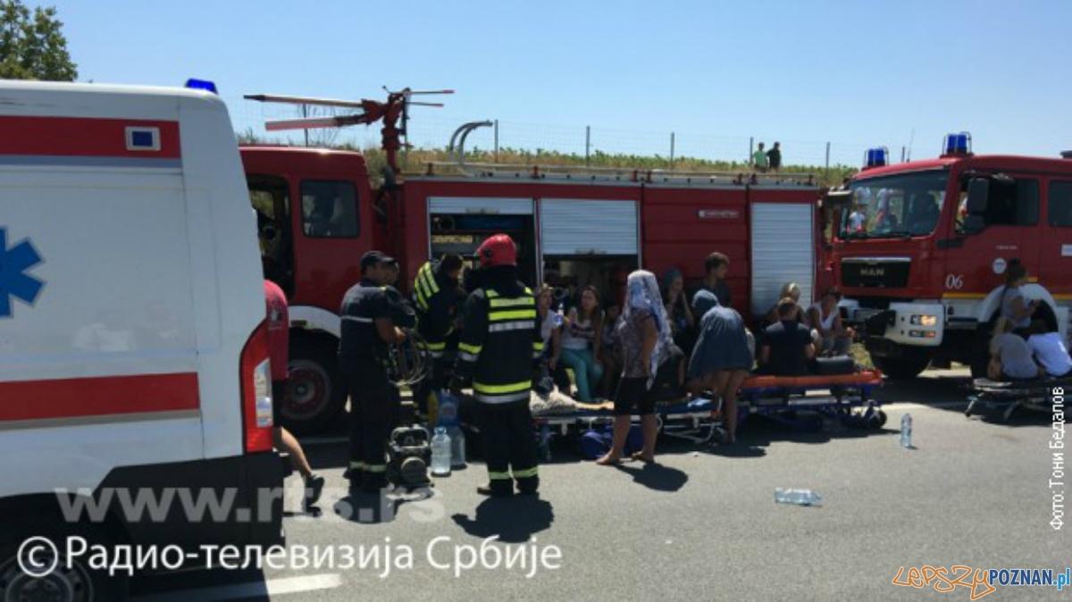 Wypadek autokaru z Poznania w Serbii  Foto: rts.rs