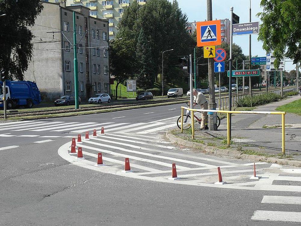 Hetmańska - Dmowskiego - przejście dla pieszych  Foto: ZDM