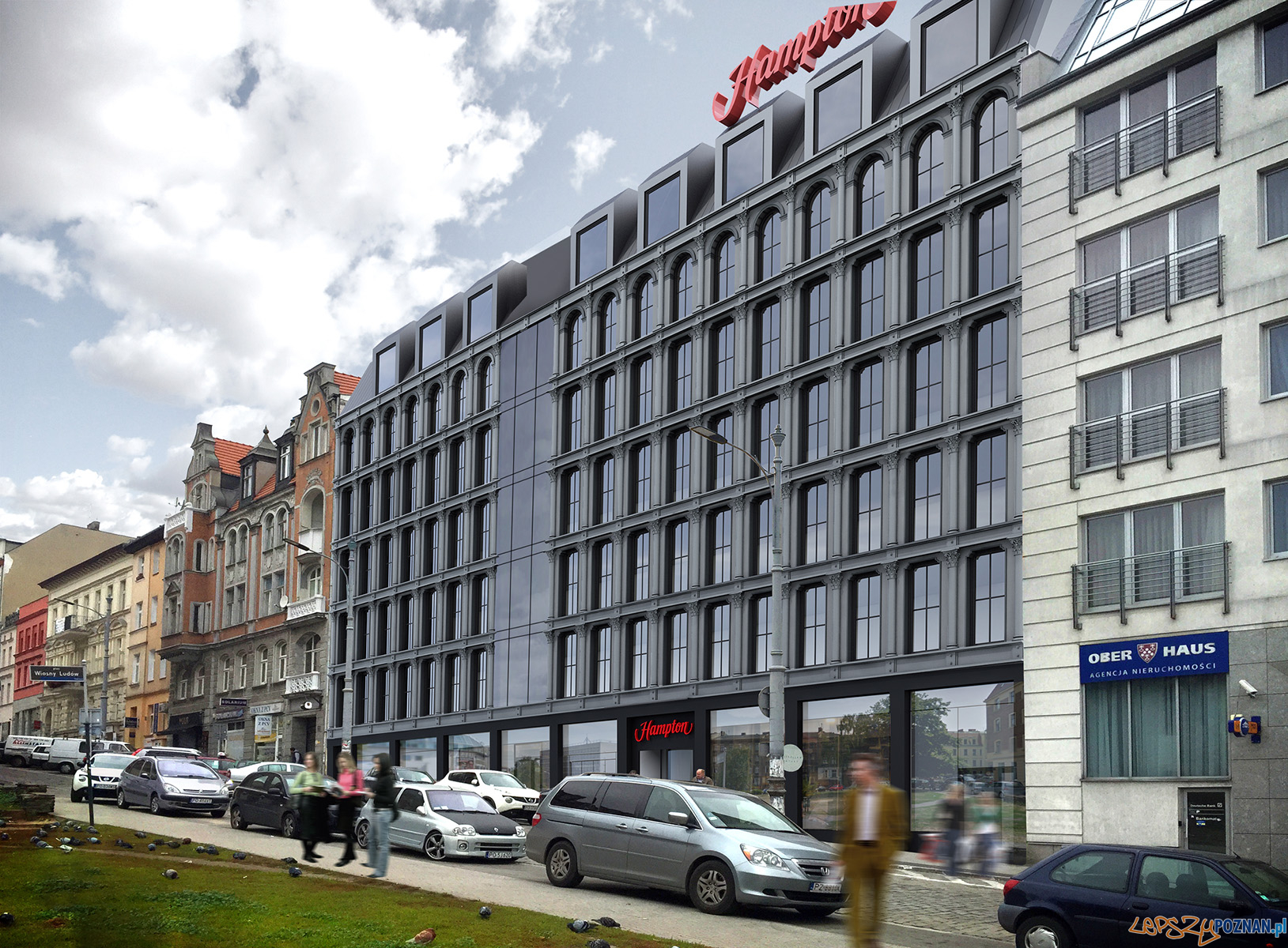 Wizualizacja hotelu hampton by hilton  Foto: mat. prasowe