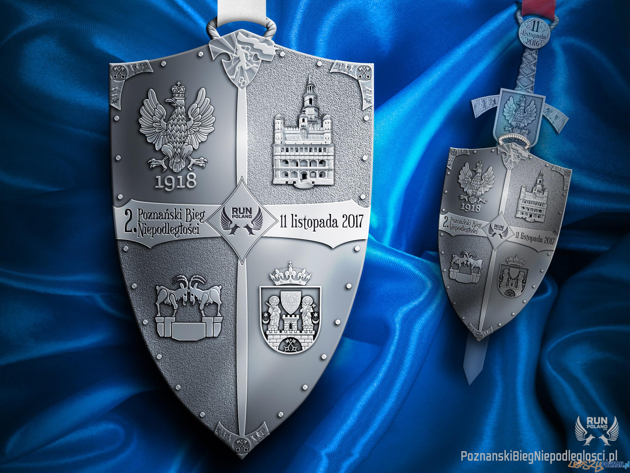 Medal - 2 Poznański Bieg Niepodległości  Foto: Poznański Bieg Niepodległości