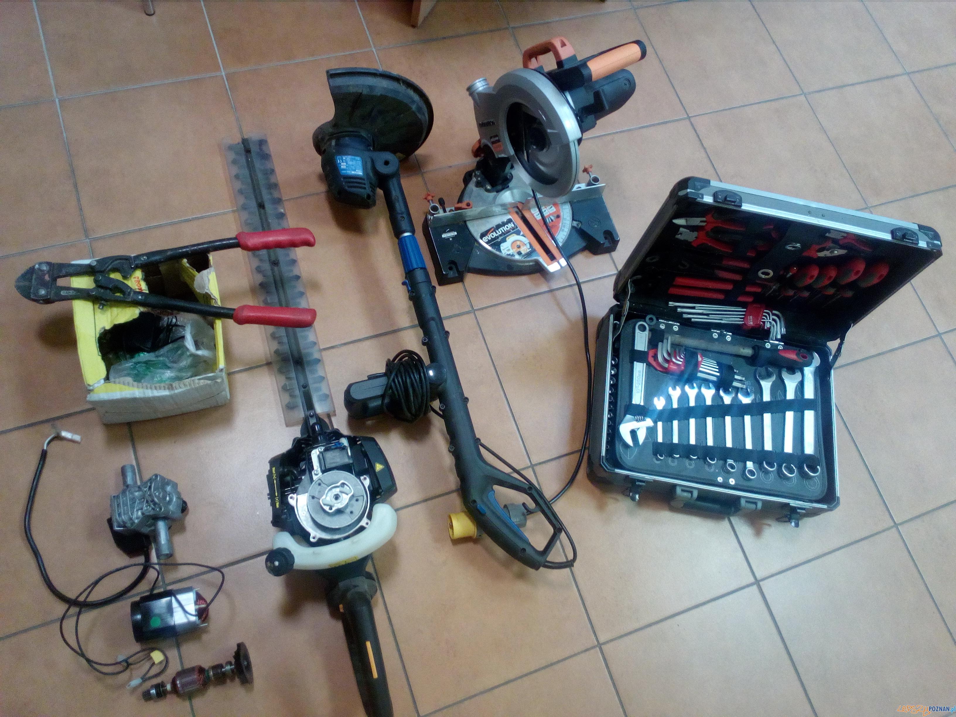 Skradzione elektronarzędzia  Foto: KWP w Poznaniu