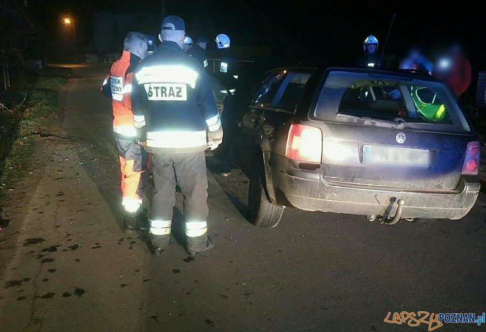 Wypadek w miejscowości Łosiniec  Foto: OSP Skoki