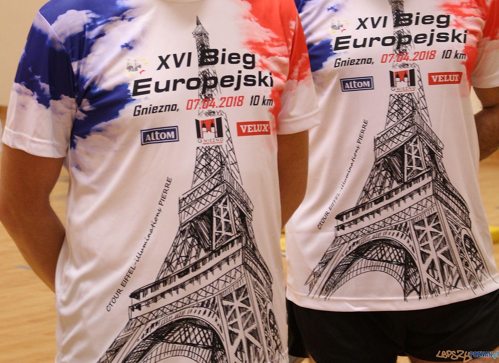 Bieg Europejski w Gnieźnie - koszulki  Foto: materiały prasowe