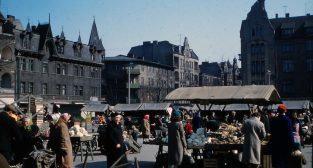 Rynek Jeżycki - koniec lat 50-tych  Foto: Mogens Tørsleff, kolekcja Gorma Rudschinata / Flickr / CC