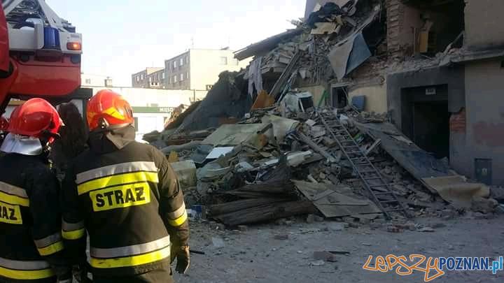 Wybuch gazu na Dębcu  Foto: OSP Luboń