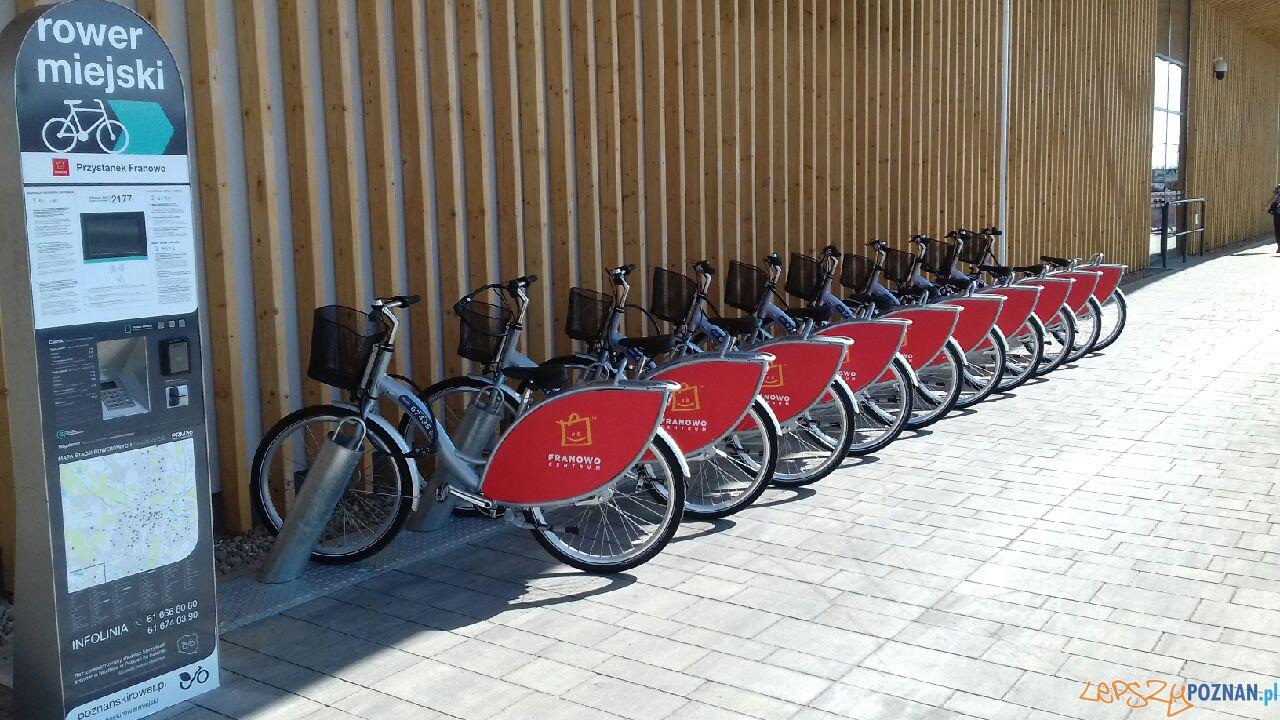 Franowo - stacja roweru miejskiego  Foto: Nextbike / materiały prasowe