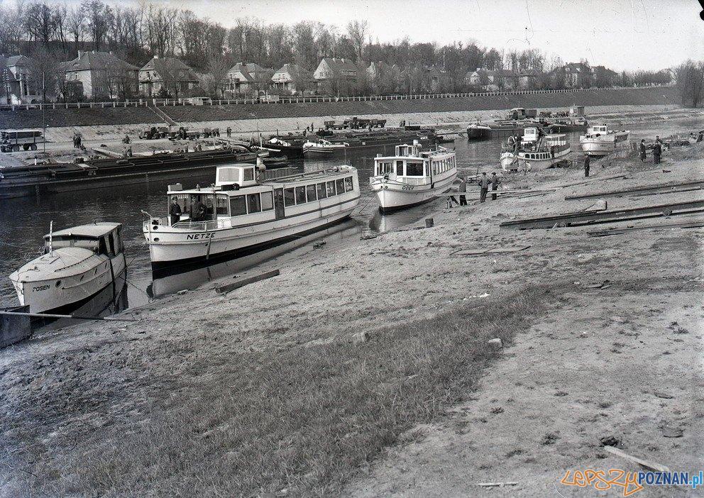 Warta - statki przy Szelągowskiej  Foto: Kronika Miasta Poznania