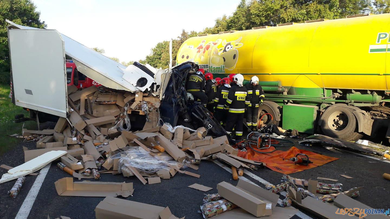 Kierowca zginął w wypadku w Trzemesznie  Foto: trzemeszno24.info