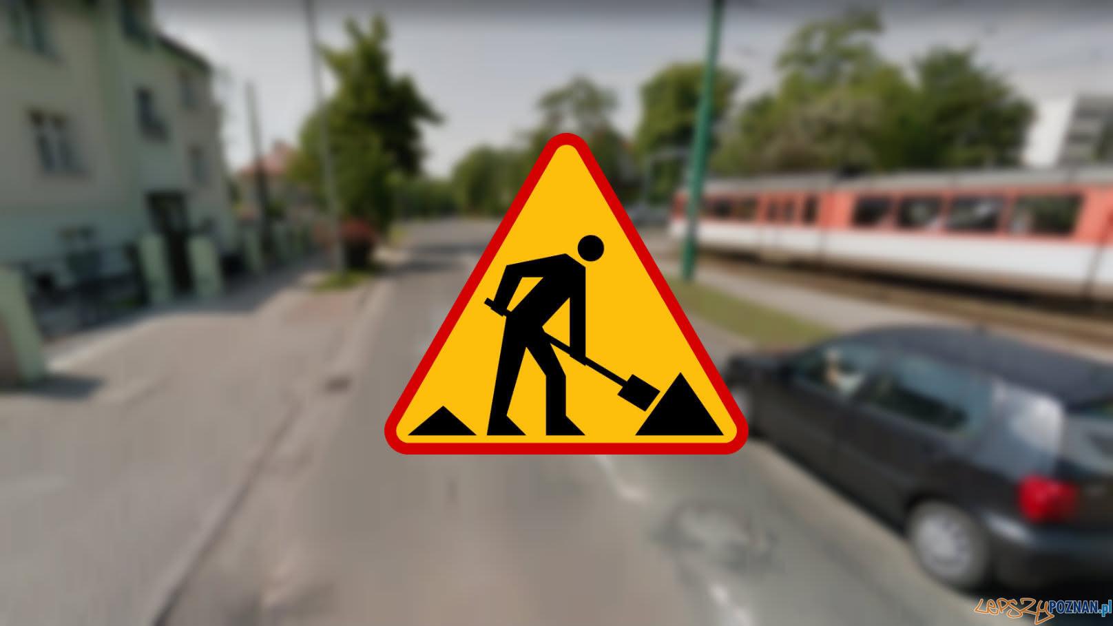Utrudnienia na Sołaczu  Foto: Google Street View