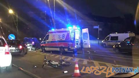 Potrącenie rowerzysty na Wyszyńskiego  Foto: Motosytgnały