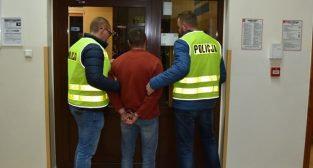 Policja zatrzymanie podejrzanego  Foto: Wielkopolska Policja / Biuro Prasowe