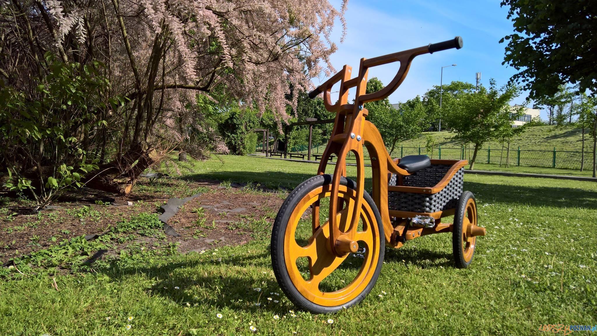 Rower z drewna - Kacper Manikowski (2017)  Foto: Uniwersytet Przyrodniczy - materiały prasowe