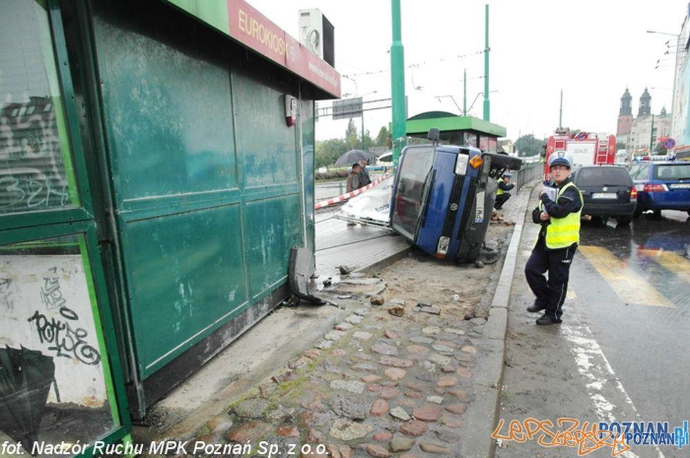 Wypadek Rondo Śródka  Foto: Nadzór Ruchu MPK