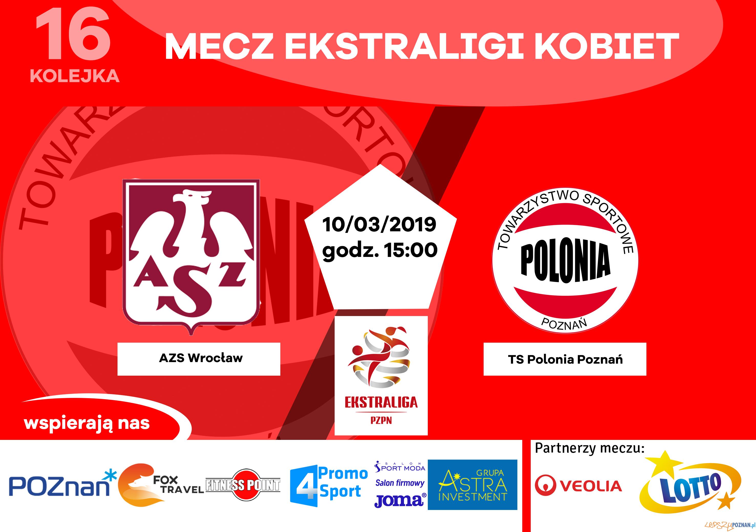 AZS Wrocław - Polonia Poznań  Foto: materiały prasowe