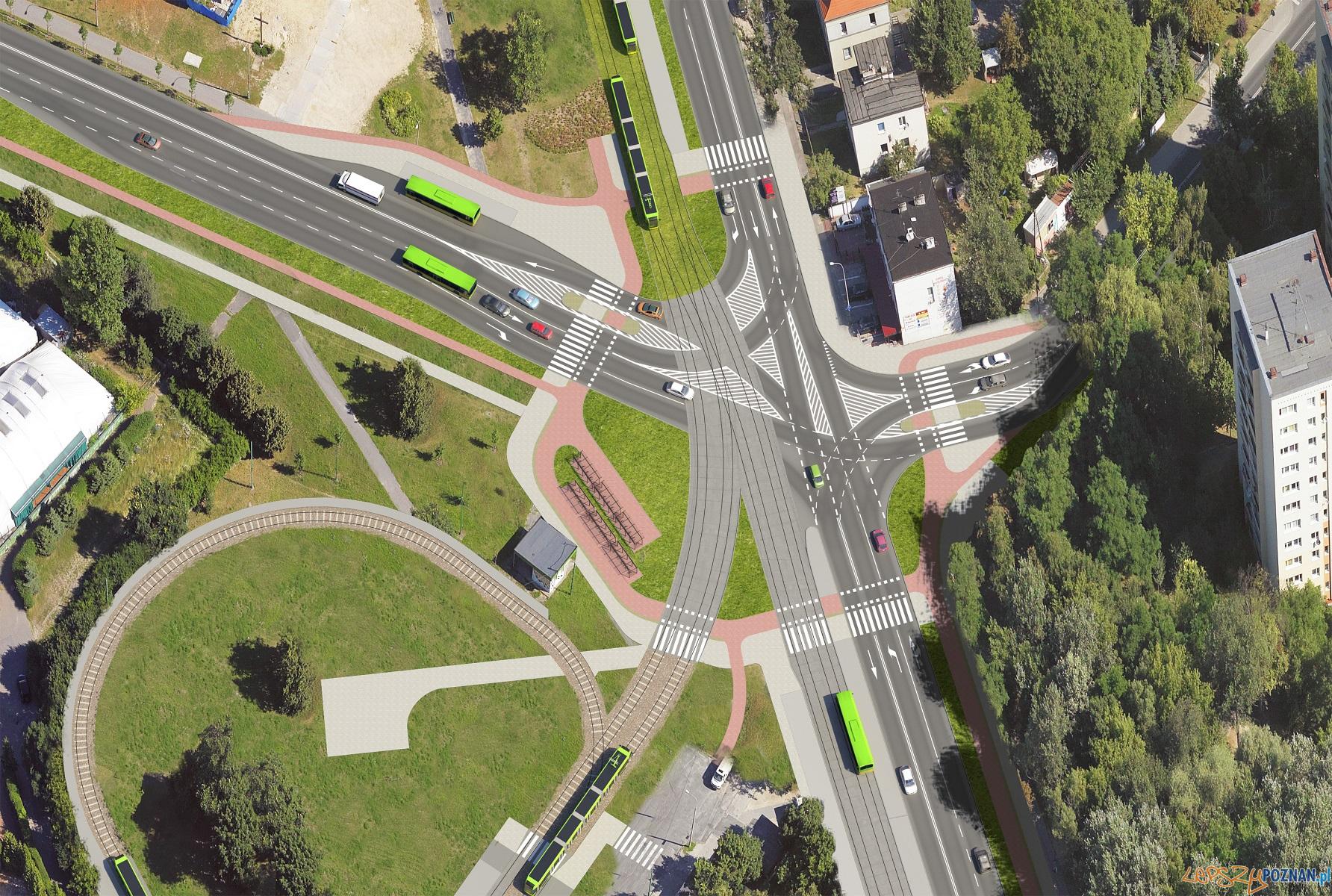 Wstępne wizualizacje II etapu trasy tramwajowej na Naramowice  Foto: materiały prasowe