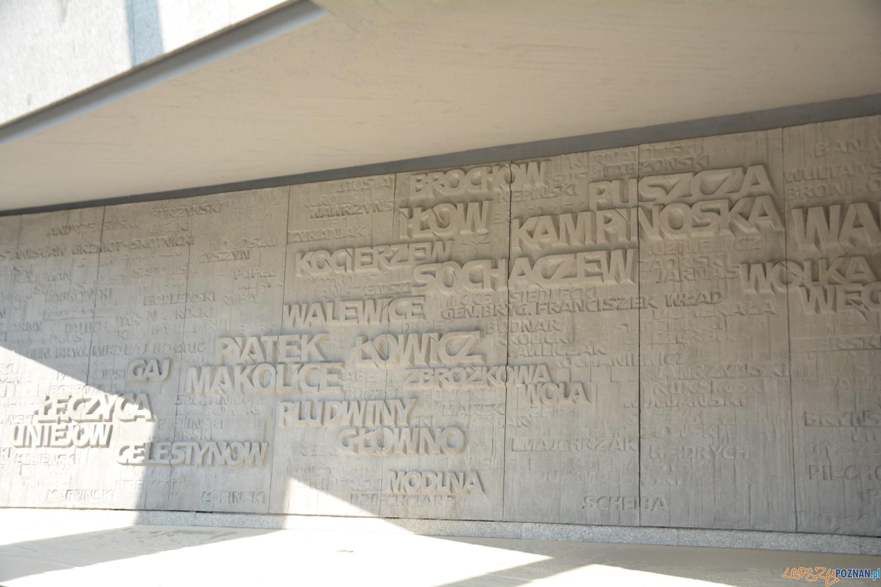 Czyszczenie pomnika Armii Poznań