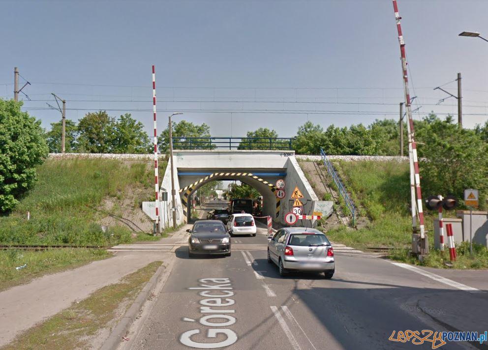 Przejazd kolejowy na Góreckie  Foto: Google Maps