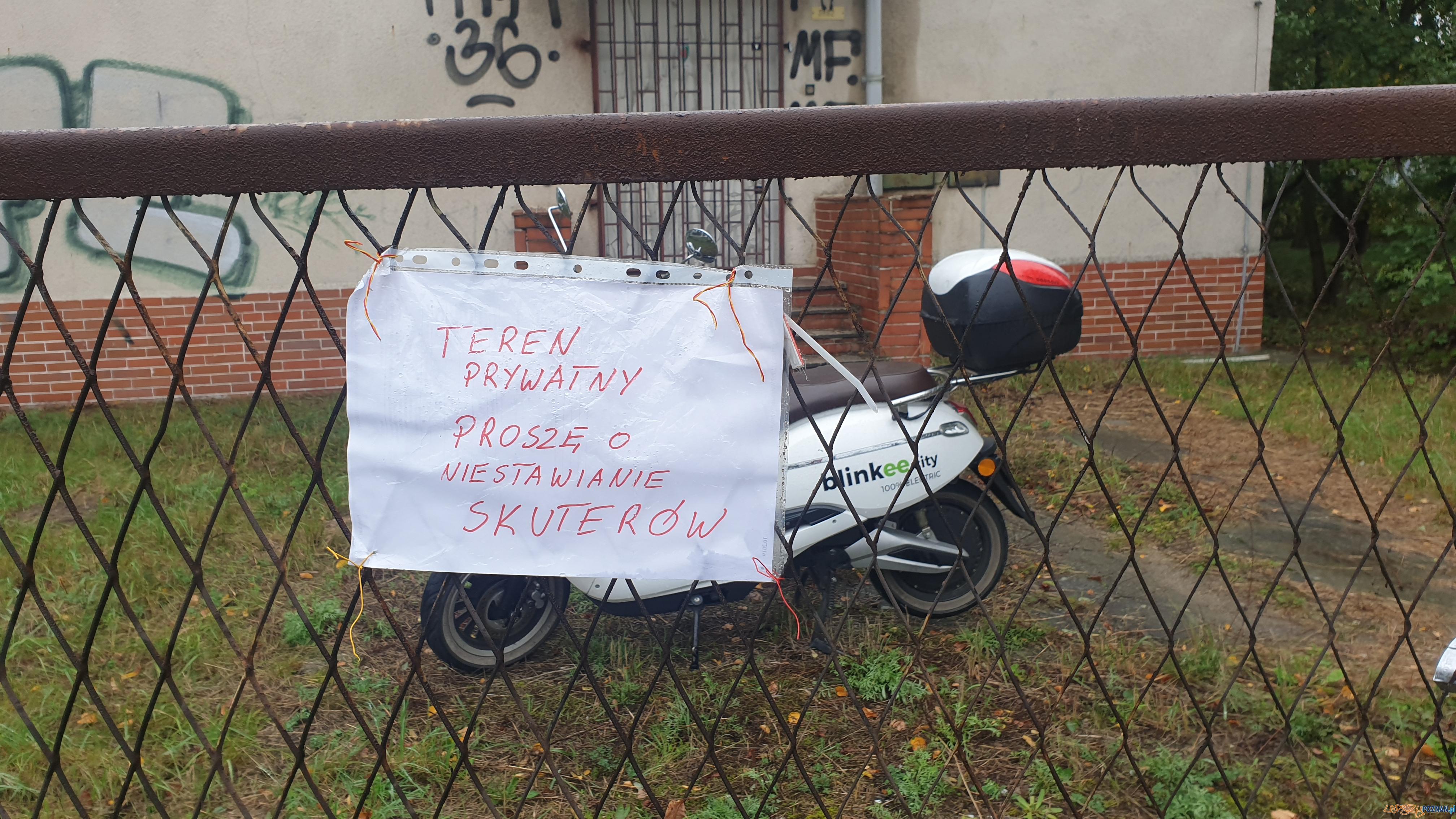Skuter zakładnik!  Foto: lepszyPOZNAN / tab