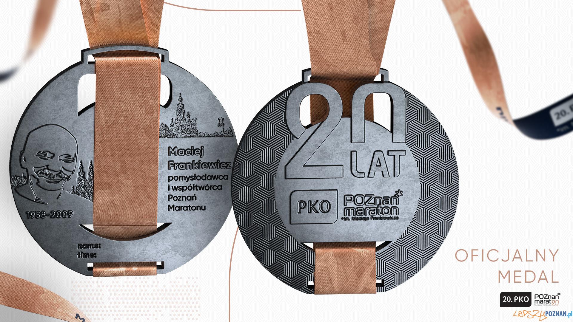 Medal 20. PKO Poznań Maratonu  Foto: materiały prasowe