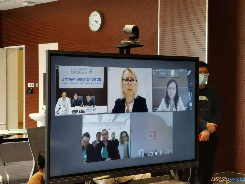 Telekonferencja z Shenzhen  Foto: materiały prasowe / UMP