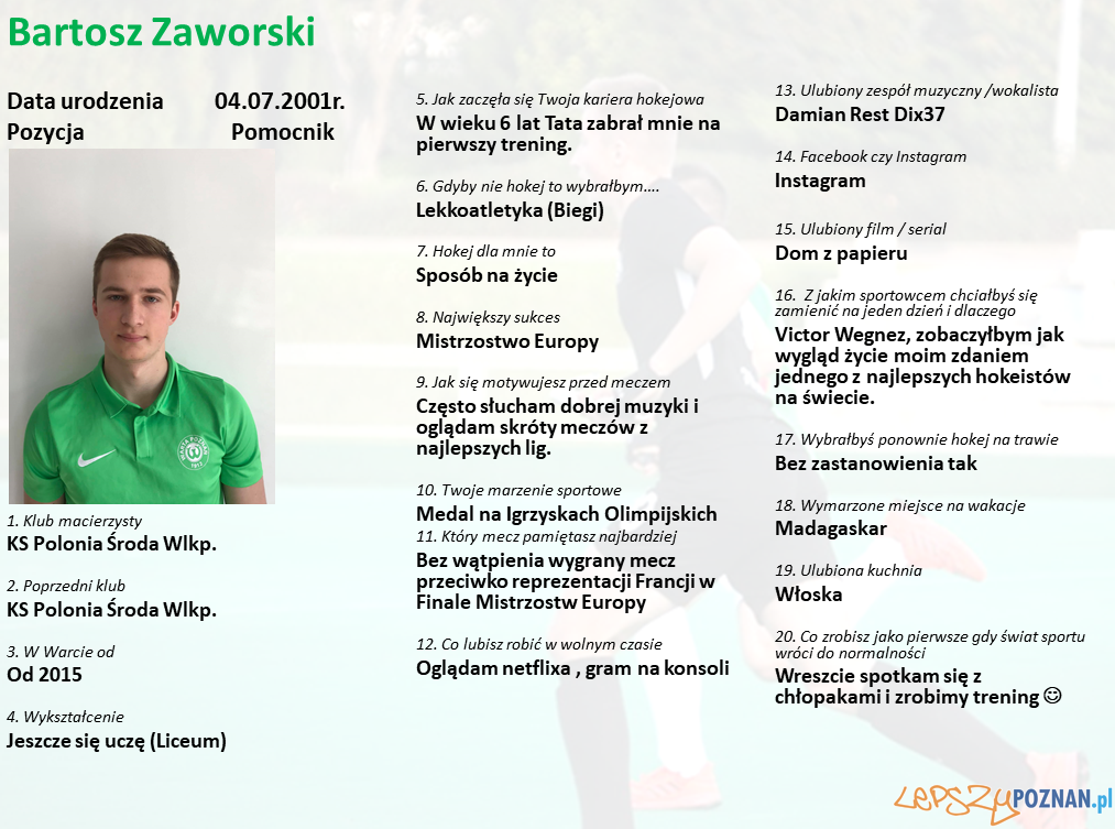 Warta Poznań - Bartosz Zaworski Foto: Warta Poznań / materiały prasowe
