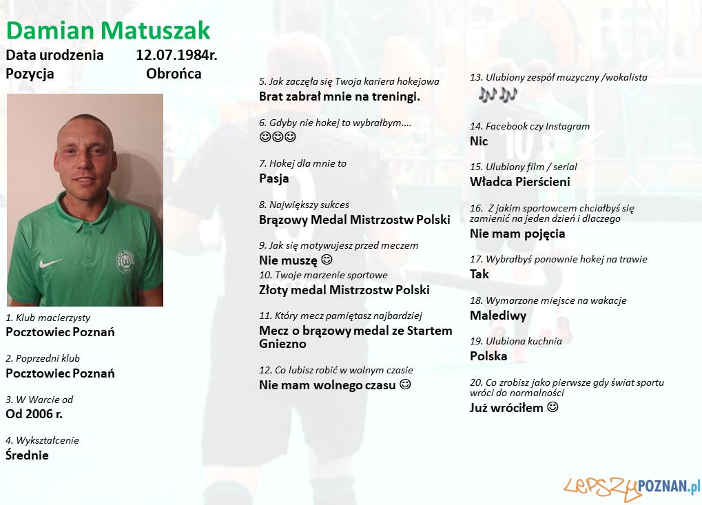 Warta Poznań - Damian Matuszak Foto: Warta Poznań / materiały prasowe